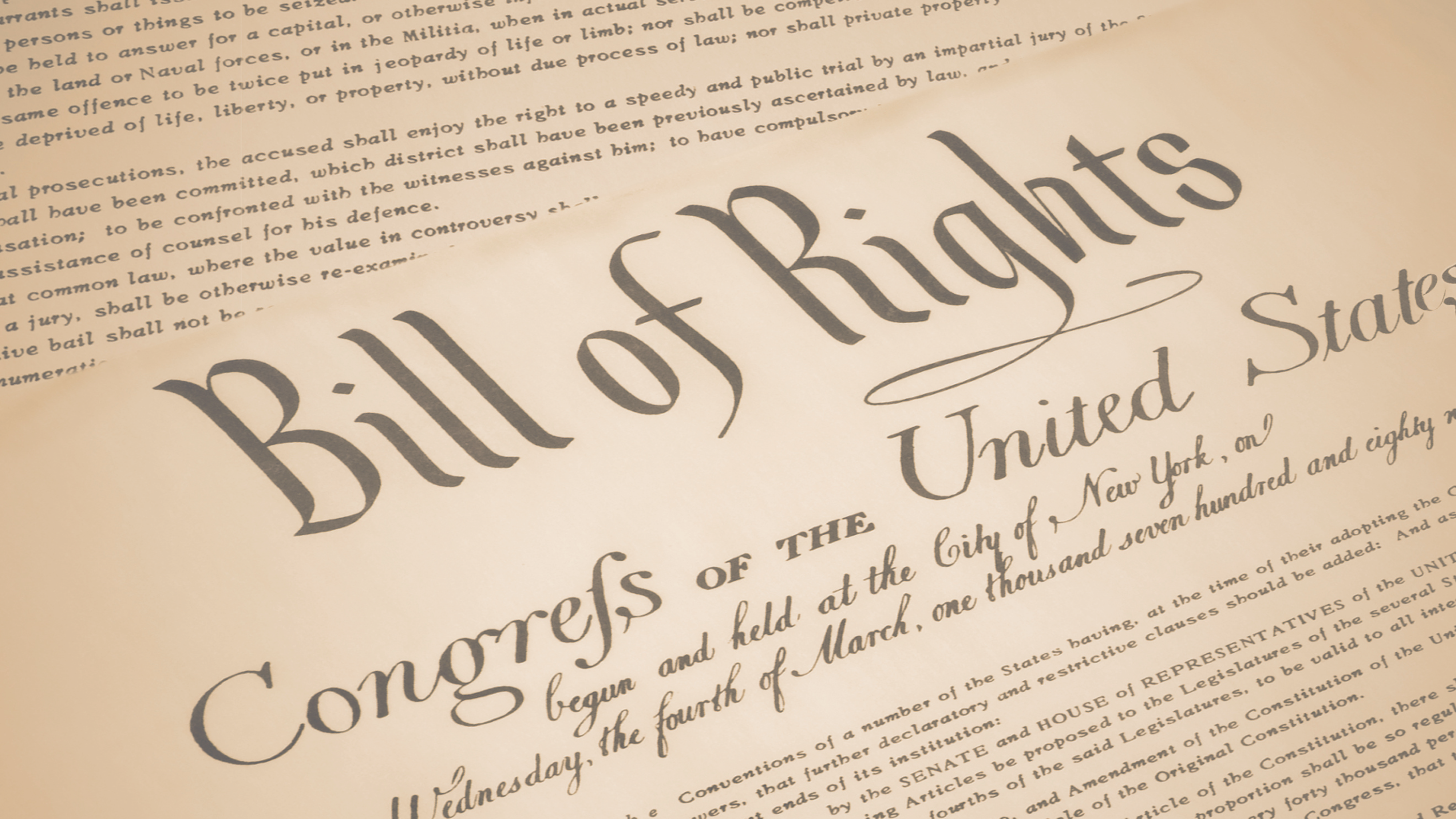 Bill of Rights (1791) - Bill of Rights Institute