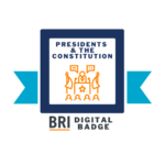 Presidents and the Constitution Badge Logo