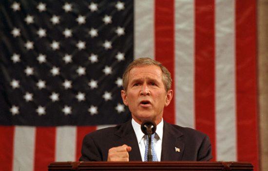 George W Bush Declares War after 9 11