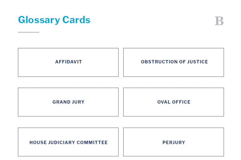 Presidents and the Constitution Handout B Glossary Cards (The Impeachment of Bill Clinton)