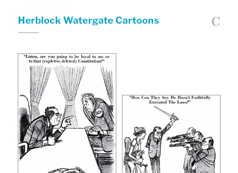 Presidents and the Constitution Handout C Herblock Watergate Cartoons