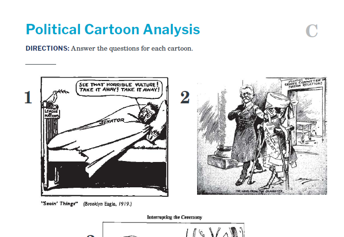 Presidents and the Constitution Handout C Political Cartoon Analysis (Treaty of Versailles)