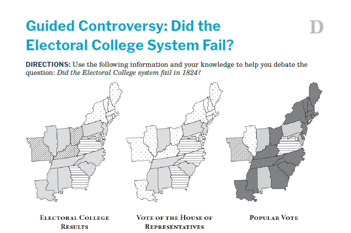 Presidents and the Constitution Handout D Guided Controversy Did the Electoral College System Fail