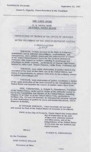 Proclamation 3204 September 24 1957