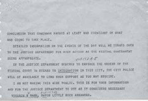 Telegram From Little Rock Mayor Mann to President Eisenhower September 23 1957 3